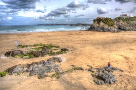 Newquay Towan beach North Cornwall England UK photo