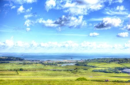 Whitecliff Bay coast view Isle of Wight near Bembridge east of the island