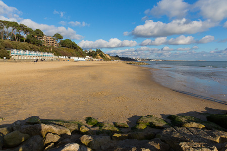 bournemouth: Branksome beach Poole Dorset England UK near to Bournemouth known for beautiful sandy beaches Stock Photo