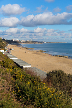 chine: Branksome beach Poole Dorset England UK near to Bournemouth known for beautiful sandy beaches Stock Photo
