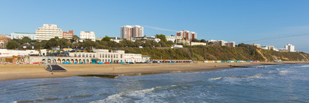 channel surfing: Bournemouth Dorset England UK near to Poole known for beautiful sandy beaches panoramic view