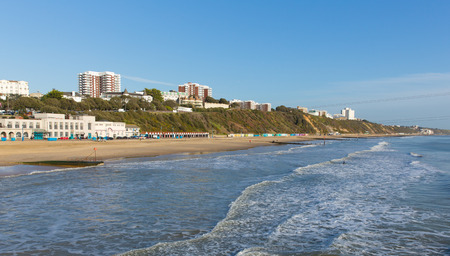 channel surfing: Bournemouth beach Dorset England UK near to Poole known for beautiful sandy beaches Stock Photo