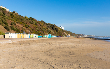 bournemouth: Bournemouth beach huts Dorset England UK near to Poole known for beautiful sandy beaches