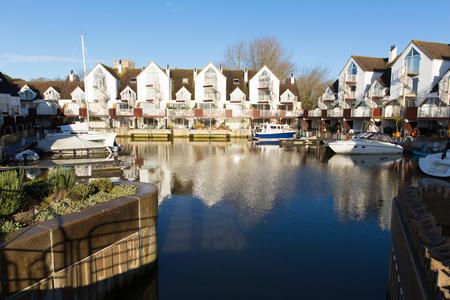 dorset: Christchurch Priory Quay Dorset England UK exclusive marina development