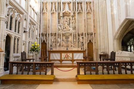Church altar and impressive stonework and decoration