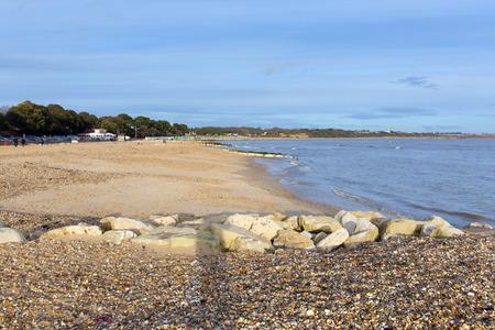 dorset: Mudeford beach near Christchurch Dorset England UK