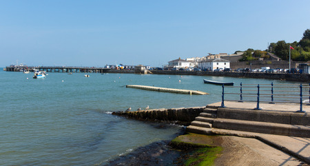 seaside town: Sunshine and warm weather brought visitors to Swanage on the Dorset coast to enjoy this popular seaside town on Wednesday 3rd September 2014