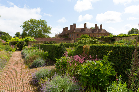 Grounds Barrington Court near Ilminster Somerset England uk Tudor manor house