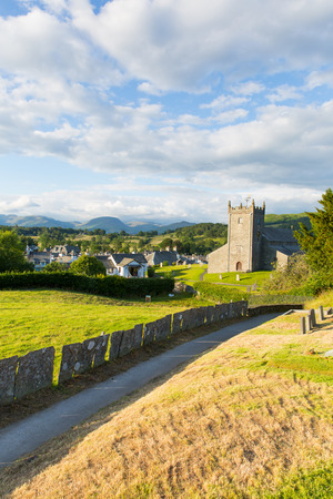 beatrix: Lake District countryside view Hawkshead England uk on a beautiful summer day near this popular tourist village known for William Wordsworth and Beatrix Potter