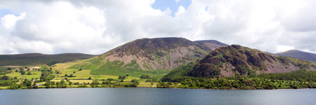 cumbria: Panoramic mountain view Ennerdale Water Lake District National Park Cumbria England uk Stock Photo