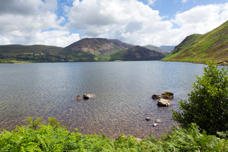 fells: Ennerdale Lake District National Park Cumbria England uk with mountains and fells in summer
