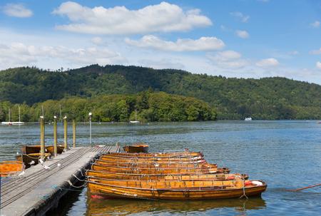 lakeland: Pleasure boats Bowness on Windermere South Lakeland Cumbria UK on the banks of Lake Windermere