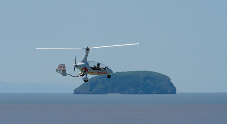 brean: Autogyro and Brean Down island Weston-super-mare air festival Somerset UK