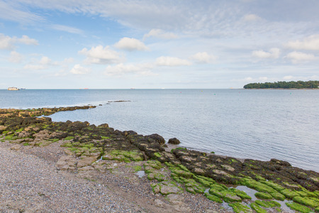 View from Nodes Point St Helens Isle of Wight Stock Photo