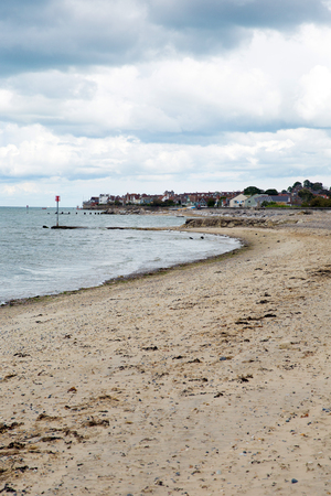 seaview: Seaview north east Isle of Wight overlooking the Solent near to Ryde in summer