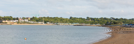 View from Nodes Point St Helens Isle of Wight to Bembridge harbour panorama Stock Photo