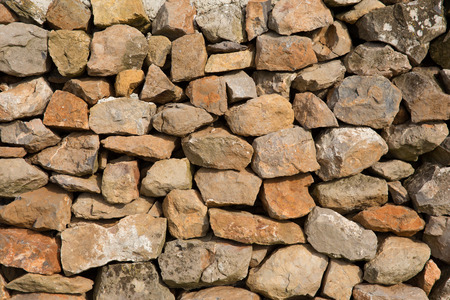 dry stone: Dry stone wall background texture