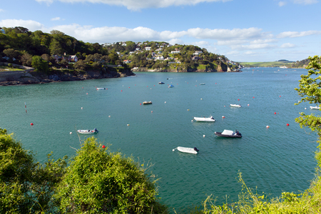 south west england: Salcombe Devon south west England UK on the Kingsbridge Estuary popular for sailing and yachting on the south west coast path