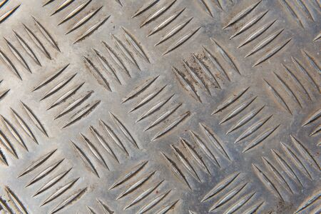 alluminum: Metal grill background or texture with lines and ridges raised from the surface Stock Photo