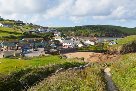 south west england: South west coast path Hope Cove South Devon England UK near Kingsbridge and Thurlstone in summer