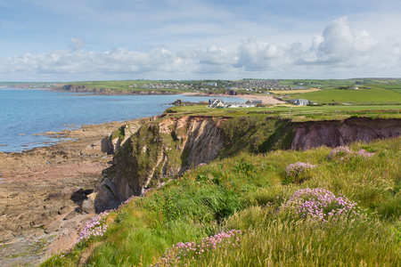 estuary: South Devon coast towards Thurlstone England UK near Hope Cove and Salcombe on the south west coast path