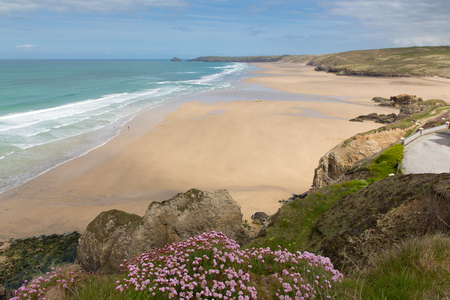 Perranporth Cornwall England UK one of the best north Cornish beaches