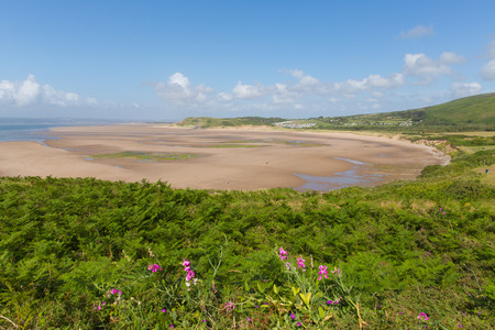 Broughton Bay the Gower peninsula South Wales UK near Rhossili beach in the Bristol Channel Stock Photo