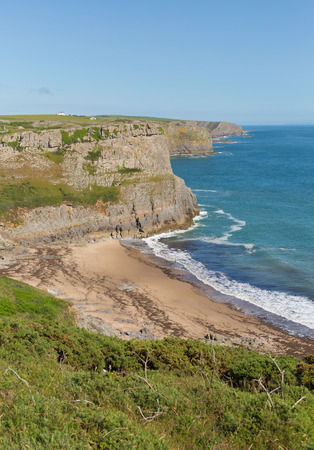 Fall Bay The Gower peninsula South Wales UK near to Rhossili beach and Mewslade Bay on Wales coast path