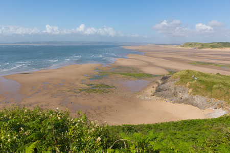 cymru: Broughton Bay beach the Gower peninsula South Wales UK near Rhossili beach in the Bristol Channel Stock Photo