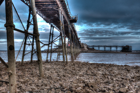 birnbeck: English Victorian pier Birnbeck Weston-Super-Mare Somerset England creative HDR