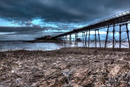 birnbeck: Birnbeck Pier Weston-super-Mare Somerset England in creative HDR