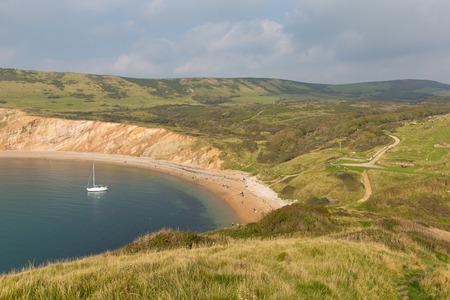 inlet bay: Worbarrow Bay east of Lulworth Cove on the Dorset coast England uk Stock Photo