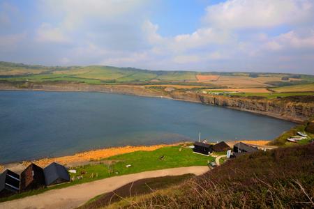 jurassic coast: Kimmeridge Bay Dorset jurassic coast England uk