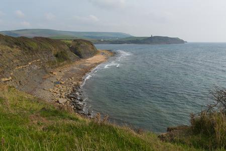 kimmeridge: Kimmeridge Bay east of Lulworth Cove on the Dorset coast England uk one of Lulworth range walks Stock Photo