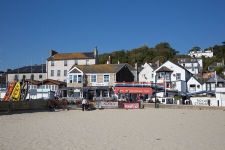 lyme: Lyme Regis beach cafe Dorset England UK on a beautiful calm still day on the English Jurassic Coast