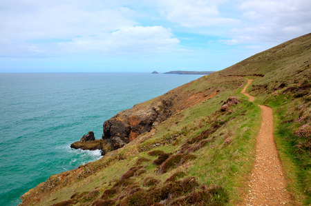 south west coast path: South west coast path towards Perranporth North Cornwall uk