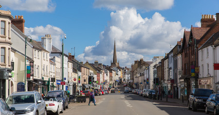 MONMOUTH, MONMOUTHSHIRE, WALES-APRIL  17TH  2016: Beautiful spring weekend weather greeted locals and visitors to the Wye valley, Monmouth, Wales on Sunday 17th April 2016 Redakční