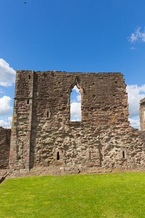 birthplace: Welsh castle ruins Monmouth Castle Monmouthshire Wales uk ruins of building and birthplace of Henry V of England