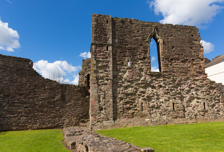 henry: Monmouth Castle Monmouthshire Wales uk ruins of building and birthplace of Henry V of England Stock Photo