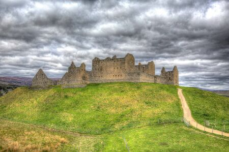 scotish: Ruthven Barracks the Cairngorns National Park Scotland UK ancient historic fortification in HDR