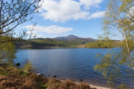 gb: Beautiful Scottish Loch Garry Scotland UK lake west of Invergarry on the A87 south of Fort Augustus and north of Fort William Stock Photo