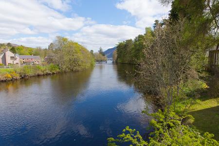 ness river: River Oich Fort Augustus Scotland UK Scottish Highlands popular tourist village next to Loch Ness
