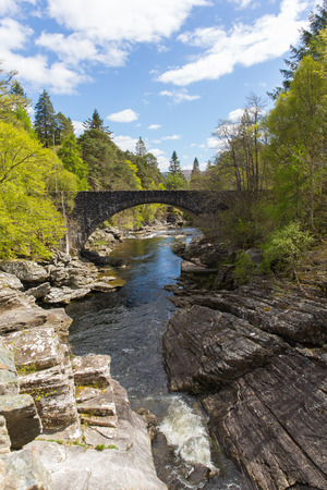 tourist attraction: Beautiful Scotland uk Invermoriston bridge Scottish tourist attraction located north of Fort Augustus on the A82