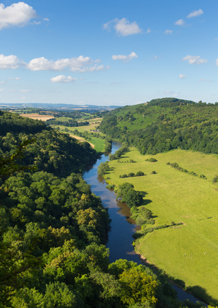 counties: Stunning views of Wye Valley and River Wye between the counties of Herefordshire and Gloucestershire England UK