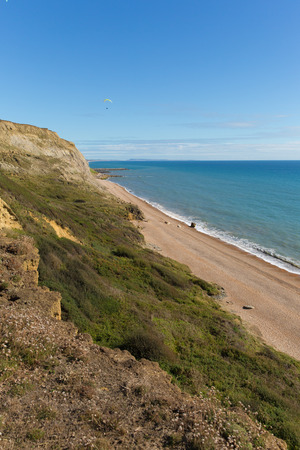 Eype Dorset England uk south of Bridport view to the west direction of Golden Cap