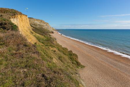 Eype beach and coast west Dorset England uk
