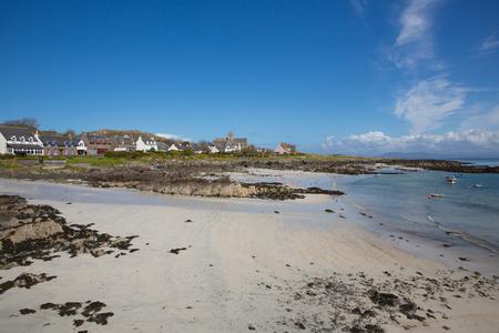 White sand beach Scottish island of Iona Scotland uk Inner Hebrides