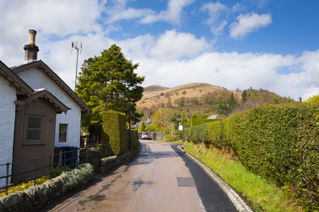 Luss village on the banks of Loch Lomond Scotland UK in The Trossachs National Park popular Scottish tourist destination Stock Photo