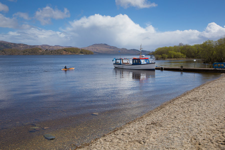 Loch Lomond Scotland UK in The Trossachs National Park popular Scottish tourist destination Stock Photo