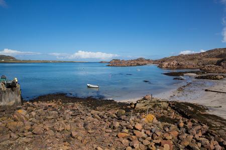 Mull: Fionnphort port Isle of Mull Scotland UK view to Iona island